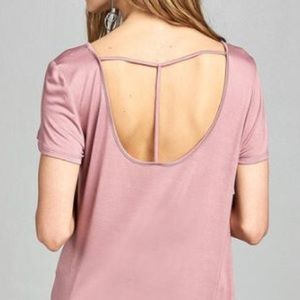 activa usa Tops - ⭐️3/$25 SALE NEW S,M Cross Strap Knit Pink Top